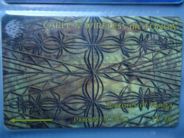 TONGA  USED CARDS MAGNETICS  TEXTURES ART - Tonga