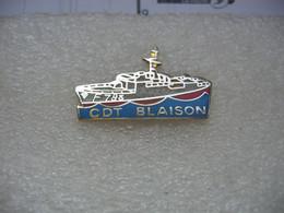 Pin's Du Commandant Blaison, Aviso De Type A69 Classe D'Estienne D'Orves, Patrouilleur De Haute-mer De La Marine Nationa - Bateaux