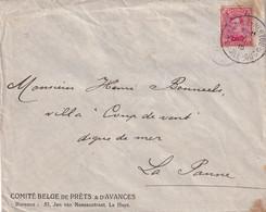 DDX996 - Enveloppe TP Albert Cachet à Etoiles BAARLE HERTOG , BAARLE DUC - 5 V 1915 - Vers PANNE Via PMB - Other Zones
