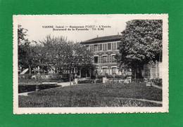 38 VIENNE Restaurant Boulevard De La PYRAMIDE L'ENTREE, POINT ,propriétaire -  Année 1939 état Impeccable - Vienne