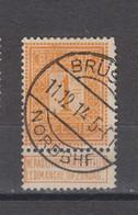 COB 108 Oblitération Centrale BRUSSEL NORDBHF - 1912 Pellens