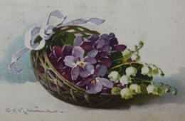 Corbeille De Fleurs Dessin Catharina KLEIN ILLUSTRATION Drawing Basket Of Flowers - Klein, Catharina