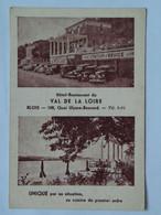 France 93 Blois Hotel Restaurant Val De La Loire Car Garage Station Service Terrace River - Blois