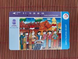 Phonecard Indonesia 125 Units Used Rare - Indonesia