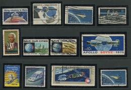 10.008) Gestempelter Posten Alle Mit Bezug Weltraum - Collections