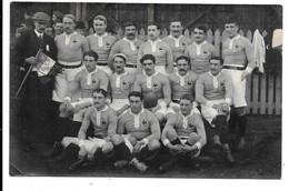 Carte Photo . - L'équipe De France Pose Avant La Rencontre Avec L'Afrique Du Sud - 11 Janvier 1913 - Bordeaux . - Rugby