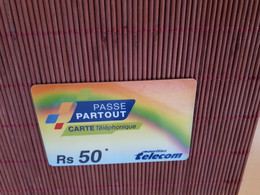 Prepaidcard Mauritius RS 50 Used Only 20.000 EX Made 2 Scans Rare - Mauritius