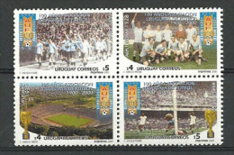 Uruguay. Coupes Du Monde Paris 1924 / Amsterdam 1928/ Uruguay 1930 / Bresil 1950. 4 T-p Neufs **  Yvert # 1909/12 - Andere