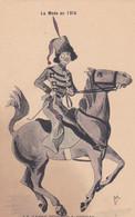 Illustrateur RENE - LA MODE EN 1915 - LA GARDE CIVIQUE A CHEVAL  (lot Pat 125/1) - Otros Ilustradores
