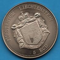 FÜRSTENTUM LIECHTENSTEIN 5 ECU 1993 SCHLOSS GUTENBERG CASTLE - Other