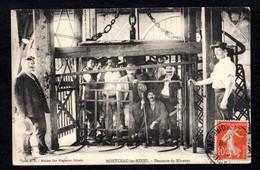 MONTCEAU-les-MINES (71 S-et-L) Descente Des Mineurs ( Carte Originale Postée En 1913) Cliché A.B. - Montceau Les Mines