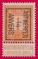 "PREO Typo N°44 - Position B "" ANTWERPEN 14 ANVERS"" - Typos 1912-14 (Lion)"