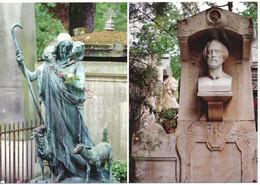 PARIS (75) Cimetière Du Père Lachaise. Statue Du Bon Berger De P. Curillon. Alfret De Musset - Other