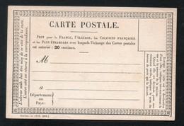 T 1 - Entier Précurseur - Neuf - Carte Des Colonies De 1876 - Vorläufer