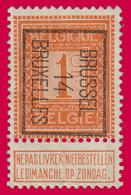PRE - Typo N°45b (Position B) BRUSSEL 14 BRUXELLES - Typos 1912-14 (Lion)
