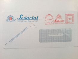 1990 - EMA - BUSTA COMMERCIALE LEONCINI, Industria Salumi - Colà Di Lazise (VR) - Affrancature Meccaniche Rosse (EMA)