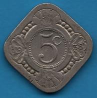 NEDERLANDEN 5 Cents 1938  KM# 153 Wilhelmina - 5 Cent