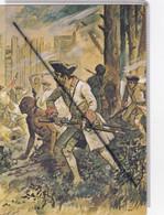 Canada - Troupes De Montcalm Au Canada . Combat De Cheguen (1756) . Aquarelle De Maurice Toussaint(carte Toilée) - Ohne Zuordnung