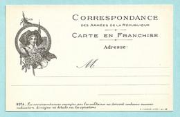 Carte En Franchise Militaire - Alsacienne - Guerre 1914-1918 - WW1 - Tarjetas De Franquicia Militare