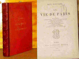 BOUCARD Max - LA VIE DE PARIS - 1801-1900