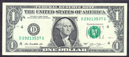 USA 1 Dollars 2013 D  - XF # P- 537 < D - Cleveland OH > - Federal Reserve Notes (1928-...)
