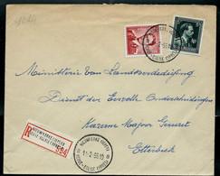 Doc. De NIEUWKERKE ( IEPER ) - NEUVE - EGLISE ( YPRES )  - B B - Du 11/02/55en Rec. ( E ) - Landpost (Ruralpost)