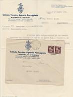 LETTERA 1946 2X2 ISTITUTO TECNICO AGRARIO PAREGGIATO TIMBRO CAPEZZINE PRATOVECCHIO AREZZO (XM542 - 1946-60: Marcophilie