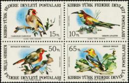 NORTHERN CYPRUS 1983 Birds Bee-eater Goldfinch Robin Oriole Animals Fauna MNH - Sonstige