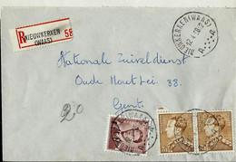Doc. De NIEUWKERKEN ( WAAS )   - A A - Du 12/04/58   En Rec. ( E ) - Landpost (Ruralpost)