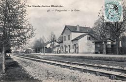 FOUGEROLLES (Haute-Saône) - La Gare. Edition Reuchet, N° 48. Circulée En 1905. Bon état. - Sonstige Gemeinden