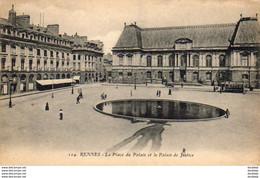 D35  RENNES  La Place Du Palais Et Le Palais De Justice  ..... - Rennes