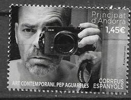 SPANISH ANDORRA,2020, MNH, CONTMEPORARY ART, PEP AGUARELES, PHOTOGRAPHY,1v - Fotografia