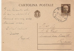 INTERO POSTALE 1942 C.30 TIMBRO STAGGIA SIENA (XM711 - Interi Postali