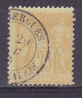 France, Sage Type I I, N° 92a, Cote7€ , De Bergues Pas De Calais( 200711/068) - 1876-1898 Sage (Type II)