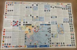 Grande Carte Générale De La Seconde Guerre Mondiale Asiatique-Pacifique/ Large Overview Chart Of WW II Asiatic-Pacific - Documents