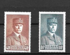 1940 -Pétain - YT 470 471-MNH* - Oblitérés