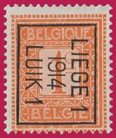 PRE - Cat.: Typo 48b (Position B) LIEGE 1 1914 LUIK 1 - Typos 1912-14 (Lion)