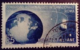Italie Italy Italia 1956 Congres Astronautique Rome Congresso Astronautico Roma Yvert 733 O Used Usato - 1946-60: Gebraucht