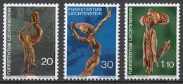 Liechtenstein 1972 Mi# 567-69** SCULPTURES MADE OF ROOTS AND BRANCHES BY RUDOLF SCHADLER - Nuevos