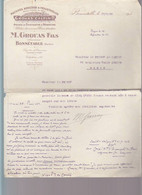 Machines Agricoles Grouas, Bonnetable Sarthe / Lettre1938 Au Prince De Carini - 1900 – 1949