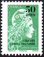France N° 5432 ** Marianne De L'Engagé Le Vert Surchargé 50_ans Dans L'histoire - 2018-... Marianne L'Engagée