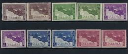 BELGIQUE  N° 249 à 253  Caritas MNH** SANS Charnière. 2 SERIES, NUANCES. - Unused Stamps
