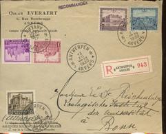 2 Devants De Lettres Recommandée Avec Châteaux. 308-314 - Storia Postale