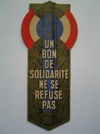 MARQUE PAGE Ancien : ETAT FRANCAIS / BON DE SOLIDARITE - Bookmarks
