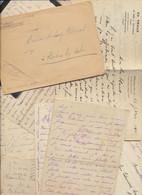 Postes Militaires Lettres Lot 140g Ostende 1914 Bruxelles 1941 Ministere De La Defense Nationale Militaire Stockem POW - 1914-18