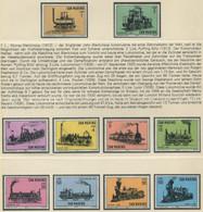 SAN MARINO / MiNr 814 - 823 / Alte Lokomotiven / Postfrisch / ** / MNH - Trenes