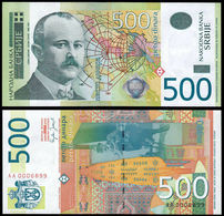 ♛ SERBIA - 500 Dinara 2007 UNC {Narodna Banka Srbije} {Perefix AA000....} UNC P.51 - Serbia