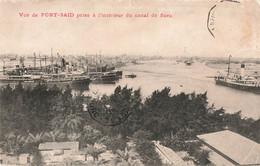 Egypte Port Said Vue Prise à L' Intérieur Du Canal De Suez Cachet Poste Maritime Paquebot La Reunion à Marseille 1910 - Port Said