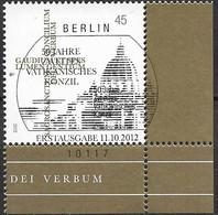 2012 Allem. Fed. Deutschland Germany Mi. 2958 FD-used Berlin EUR  50. Jahrestag Des Beginns Des Zweiten Vatikanischen Ko - Gebraucht
