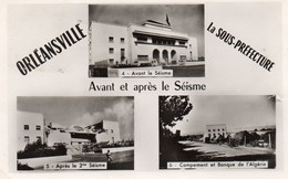 ~ Orléansville - La Sous-préfecture Avant Et Aprés Le Séisme - Multivues - Chlef (Orléansville)